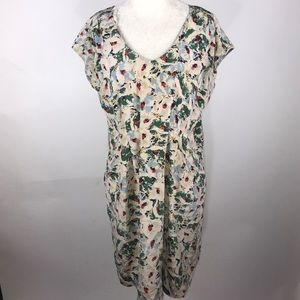 Anthropologie Odille silk shift dress small career